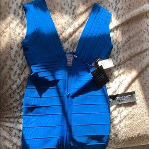 Beautiful blue Herve Leger dress size large